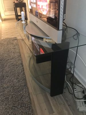 Glass TV Stand for Sale in Tampa, FL