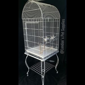 NEW!! White Dome-Top Bird Cage with Stand for Sale in Colton, CA