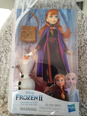 Frozen Anna doll with olaf Shipping only no pickup for Sale in Apalachicola, FL
