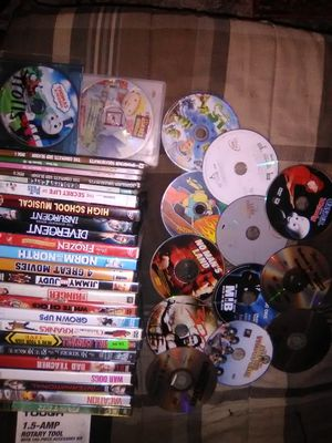 40+ DVDs mixture between funny action kids for Sale in Jefferson City, MO