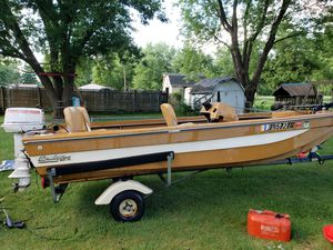16 foot bass boat for sale or trade for Sale in Indianapolis, IN