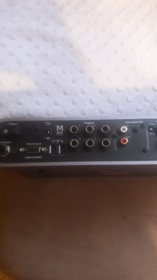 M box pro fire wire audio interface