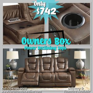 Owners box power reclining sofa by Ashley for Sale in Mooresville, NC