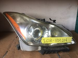 INFINITI G37 COUPE FRONT RIGHT PASSENGER SIDE HEADLIGHT ASSEMBLY for Sale in Fort Lauderdale, FL