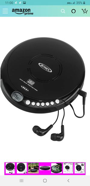 Jensen Portable CD-120BK Portable Personal CD Player Compact 120 SEC Anti-Skip CD Player – Lightweight for Sale in Las Vegas, NV
