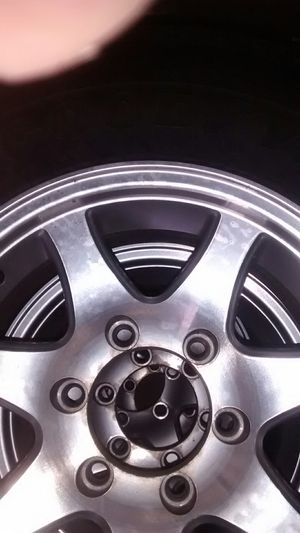 15 in trailer tires w aluminum rims for Sale in Anna, OH