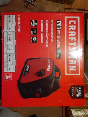 CRAFTSMAN 1700 watts inverter Generator for Sale in Chevy Chase, MD