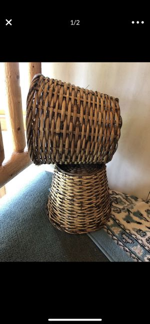 Wicker trash cans for Sale in Woodland Park, CO