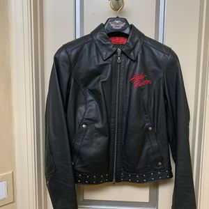 Harley Davidson Womens Medium Black Leather Jacket for Sale in Delray Beach, FL
