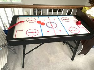 AIR HOCKEY TABLE - Legs FOLD for easy storage for Sale in Summit, NJ