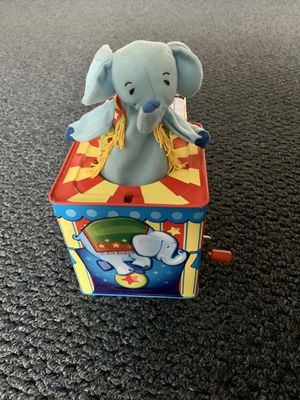 Schylling's silly circus elephant jack in the box for Sale in Lancaster, OH