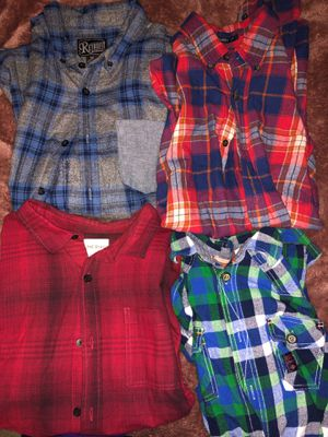 Men's small-medium plaid long sleeve shirts... red on the byas is a short sleeve for Sale in Sacramento, CA