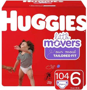 Huggies little movers size 6 diapers for Sale in Downey, CA