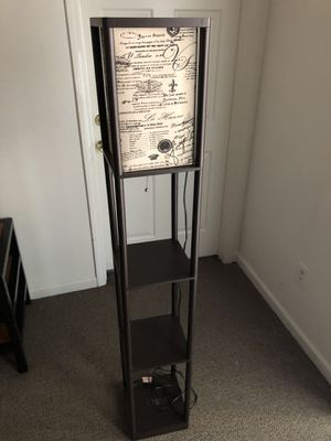 Script Shade Brown Shelf Floor Lamp for Sale in Raleigh, NC