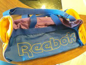 EUC VTG Vintage Reebok Colorblock Spellout Duffel Full-Zip Bag Blue Purple Yellow for Sale in Birmingham, MI