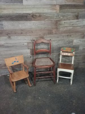 Vintage Antique Chairs (3) for Sale in Boring, OR