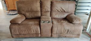 Microfiber sofa loveseat with usb power for Sale in Palm Shores, FL