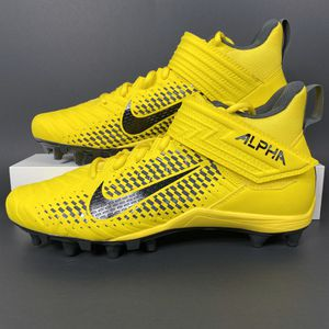 NIKE ALPHA MENACE VARSITY 2 YELLOW BLACK MEN'S SHOES SIZE 9.5 FOOTBALL CLEATS NEW for Sale in The Colony, TX
