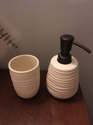 Bath Soap Dispenser and Cup for Sale in Washington, DC