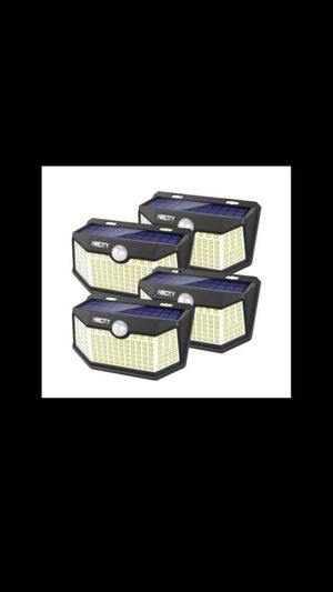 Solar Lights Outdoor 120 LED with Lights Reflector,Solar Motion Sensor Security Lights, IP65 Waterproof (4 pack) for Sale in Rialto, CA