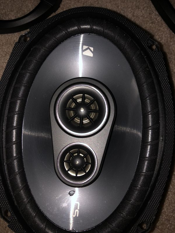 "Kicker CS C693 3-way 6""x9""x speakers with 1"" ceramic tweeters"