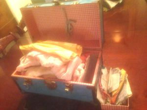 Vintage Cass Toys Doll Clothes Trunk and 40's Doll Clothes for Sale in Norfolk, VA