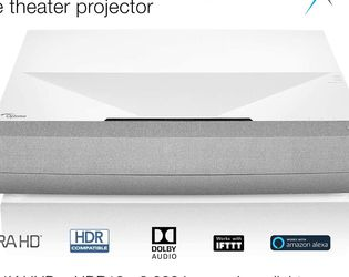 Optoma CinemaX P2 4K UHD 16:9 Laser Home Cinema Projector with Soundbar for Sale in Los Angeles,  CA