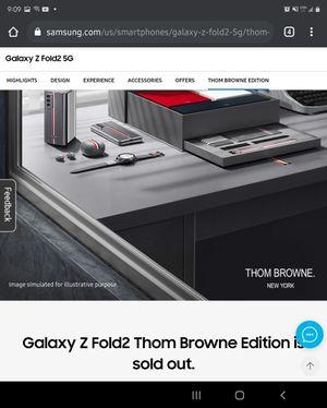 Samsung Galaxy Fold 2 Limited Edition Thom Browne NIB for Sale in Fullerton, CA