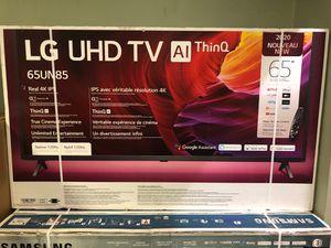 LG 65 inch eight series 4K TV smart 120Hz 2020 model 65un8500 for Sale in Cerritos, CA