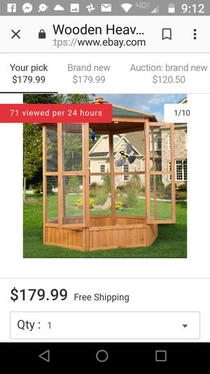 Xl octogon bird cage for Sale in Ardara, PA