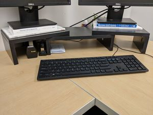 double monitor stand, computer for Sale in Chicago, IL
