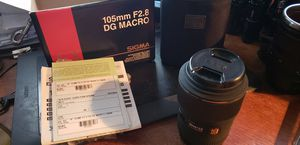 Signa EX DG 105mm AF macro kens for Sale in West Hollywood, CA