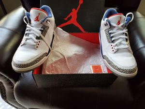 Jordan 3 true blues size 12 with the box for Sale in Moreno Valley, CA