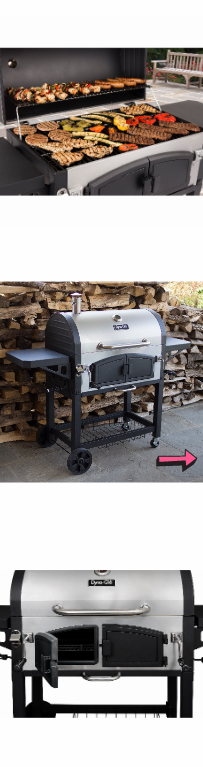 NEW Dual Chamber Charcoal Grill Outdoor Premium Patio Barbecue Smoker Stainless Deck Portable Bbq Cooker Burn Firebox Cooking Grilled *↓READ↓* for Sale in Chula Vista, CA