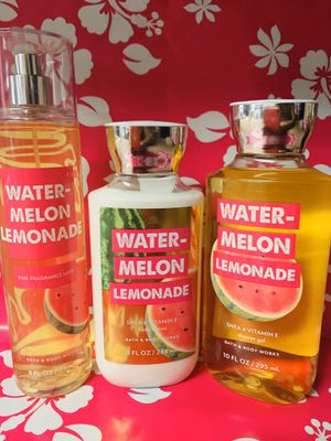 Bath & Body Works Watermelon Lemonade 3 pc set for Sale in Pasadena, TX