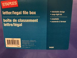 File Hanging Box w/ lid (letter or legal size) for Sale in Banning, CA