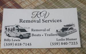 RV Removal for Sale in Fresno, CA