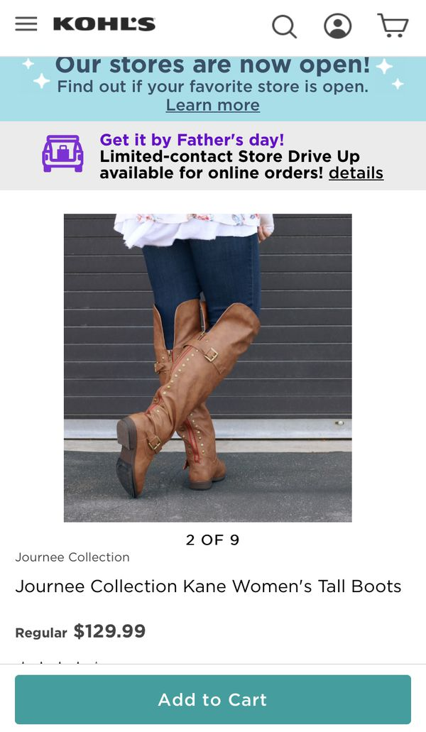 Journee Collection Kane Women's Tall Boots Size 9