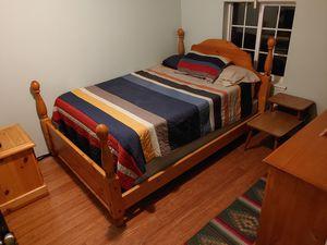 Complete solid oak bedroom set for Sale in Seattle, WA