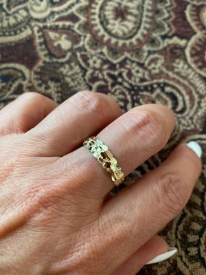 5mm 10K yellow gold Hollow Nugget Ring wedding band all sizes available for Sale in West Los Angeles, CA