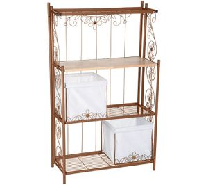 Temp-tations Collapsible Baker's Rack with Baskets for Sale in Pompano Beach, FL