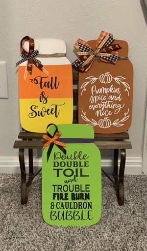 Handmade signs for fall and Halloween for Sale in Austin, TX