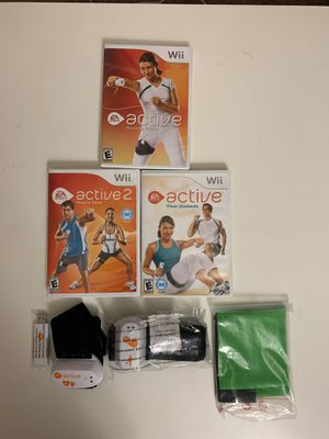 Wii active games with total body tracking sensors for Sale in Phoenix, AZ