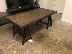 Table wood metal legs desk dining office for Sale in McKinney, TX