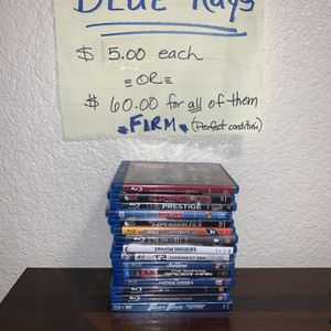 Blu Rays Only used One Time!! for Sale in Roseville, CA