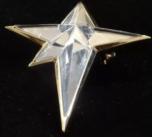 Thierry Mugler Star Pin Circa 1995 Collectible Blue Glass for Sale in San Diego, CA