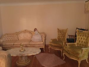 French sofas 4 marble tables & 3 lamps for Sale in Warren, MI