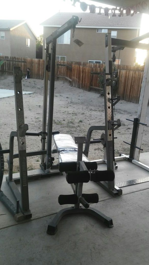 Powerhouse Squat Rack With Lat Pulldown For Sale In Victorville Ca Offerup