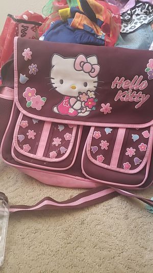 Hello Kitty pink and brown diaper bag/ backpack for Sale in Rialto, CA