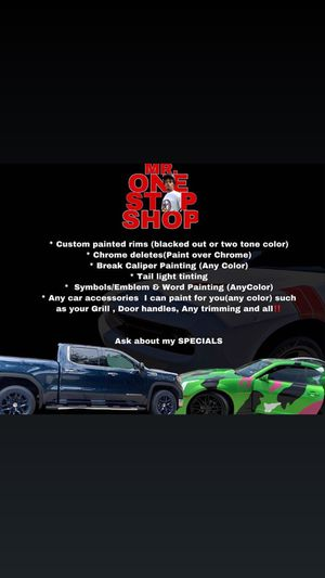 Custom painted rims and accessories for Sale in Houston, TX
